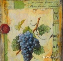 Deseczka z winogronem