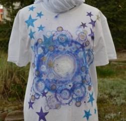 T-shirt ręcznie malowany